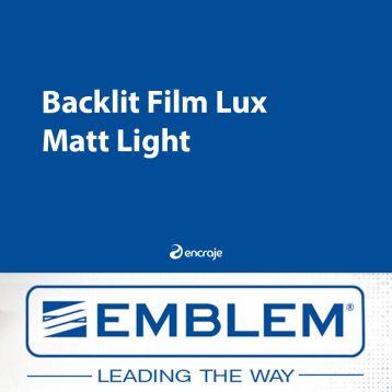 Film Polyester Diffusant Mat EMBLEM Backlit 160 µm
